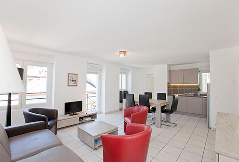 Apartment rental brides les bains 8 persons