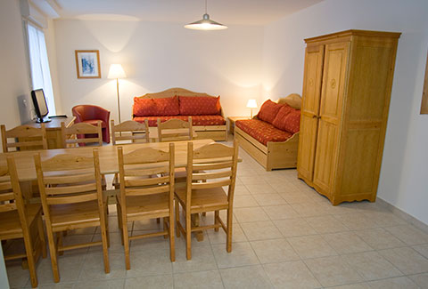 apartment rental 6 persons brides les bains