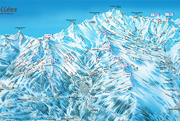 ski resort les 3 vallees map